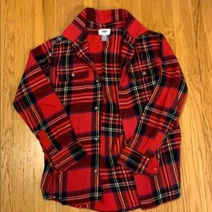 Old Navy Boys Flannel Button Down Shirt
